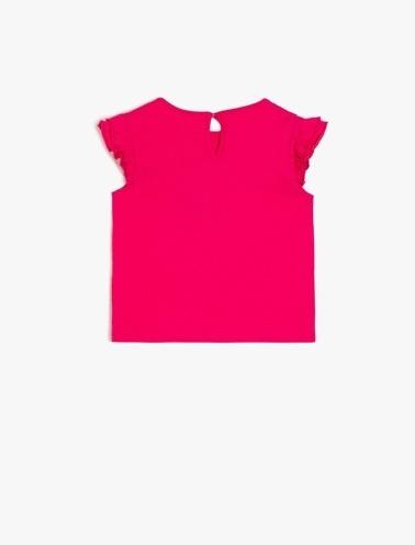 Koton Kids Pul Detaylı T-Shirt Pembe